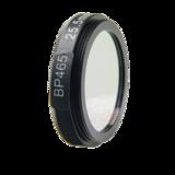 LFT-BP465-M25.5, Narrow bandpass filter,  465nM Peak wavelenght, useful range between 442-494nM_