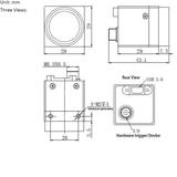 "MER-130-30UM, MT9M001, 1280x1024, 30fps, 1/1.8"", Rolling shutter, CMOS, Mono_"