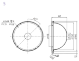 Industrial Machine Vision Dome Light Dimensions