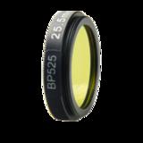 LFT-BP525-M25.5, Narrow bandpass filter,  525nM Peak wavelength, useful range between 508-556nM_