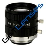 "LENS C-mount 5MP 25MM F1.4 for max sensorsize 2/3"" NON DISTORTION"