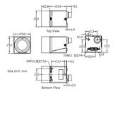 Mechanical drawing of USB3 Camera with Sony IMX250 sensor, model MER-502-79U3M