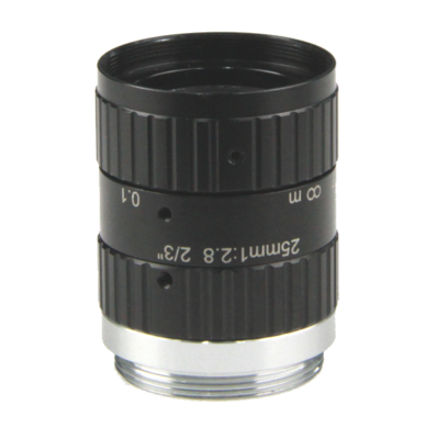 "LCM-10MP-25MM-F2.8-1.5-ND1, LENS C-mount 10MP 25MM F2.8 2/3"" NON DISTORTION"