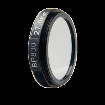 LFT-BP830-M27, Narrow bandpass filter,  830nM Peak wavelenght, useful range between 802-868nM