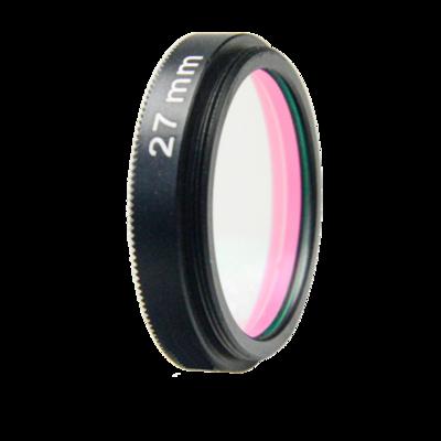 LFT-UVIRCUT-M27, UV + IR-Cut filter, useful range between 398-698nM
