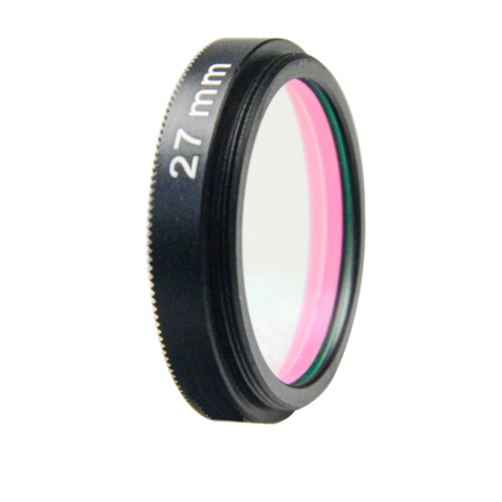 LFT-UVIRCUT-M27, UV + IR-Cut filter, useful range between 398-698nM