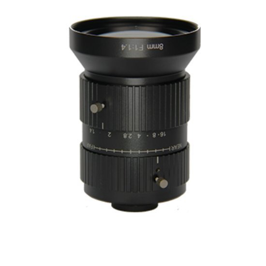 LCM-10MP-08MM-F1.4-1.1-LD1, LENS C-mount 10MP 8MM F1.4 1.1