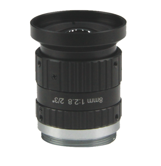 LCM-10MP-08MM-F2.8-1.5-ND1, LENS C-mount 10MP 8MM F2.8 2/3