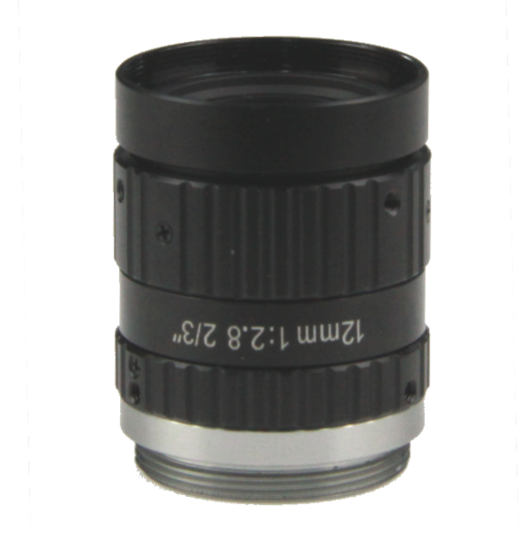 LCM-10MP-12MM-F2.8-1.5-ND1, LENS C-mount 10MP 12MM F2.8 2/3