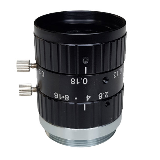 LCM-10MP-25MM-F2.8-1.5-ND1, LENS C-mount 10MP 25MM F2.8 2/3