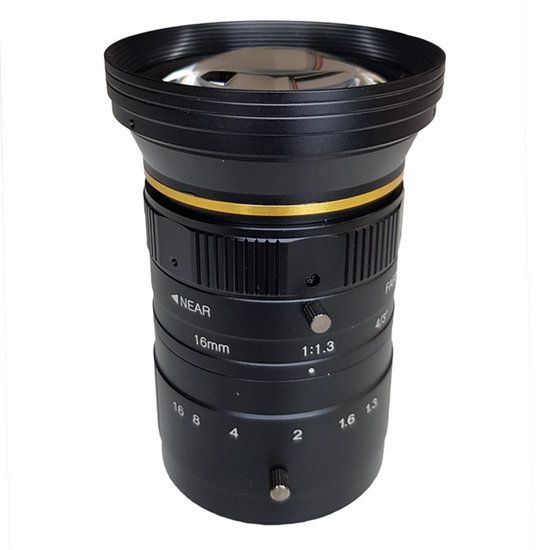 LCM-12MP-16MM-F1.3-1.3-ND1, LENS C-mount 12MP 16MM F1.3 4/3