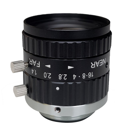 LCM-5MP-25MM-F1.4-1.5-ND1, LENS C-mount 5MP 25MM F1.4 2/3