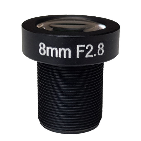 LM12-5MP-08MM-F2.8-1.8-ND1, LENS M12 5MP 8MM F2.8 1/1.8