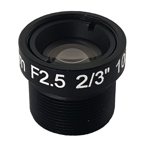 LM12-10MP-12MM-F2.5-1.5-ND1, LENS M12 10MP 12MM F2.5 2/3