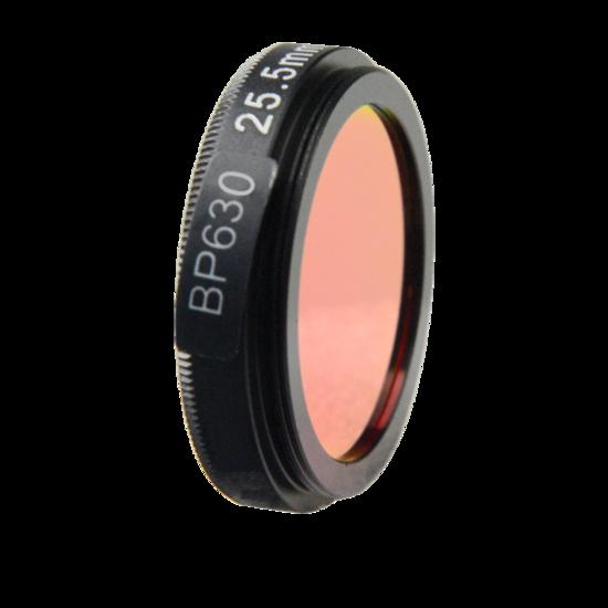 LFT-BP630-M25.5, Narrow bandpass filter,  630nM Peak wavelength, useful range between 610-648nM