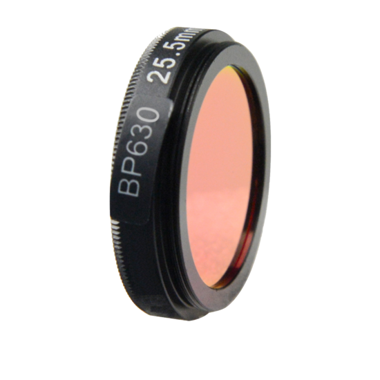 LFT-BP630-M30.5, Narrow bandpass filter,  630nM Peak wavelength, useful range between 610-648nM