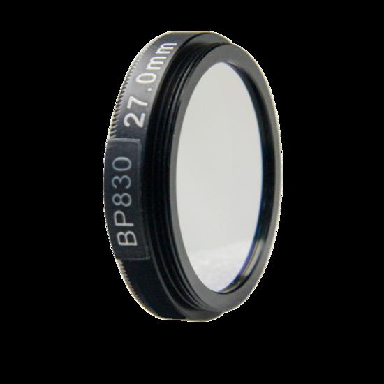 LFT-BP830-M25.5, Narrow bandpass filter,  830nM Peak wavelength, useful range between 802-868nM