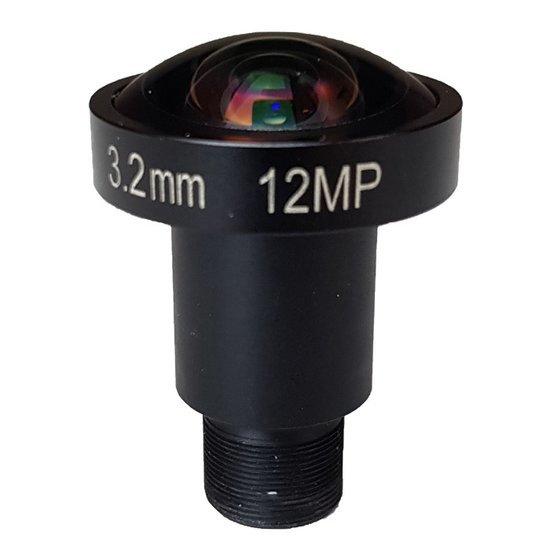 LM12-12MP-03MM-F2.0-1.7-HD1, LENS M12 12MP 3.2MM F2.0 1/1.7