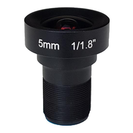 LM12-5MP-05MM-F2.5-1.8-LD1, LENS M12 5MP 5MM F2.5 1/1.8