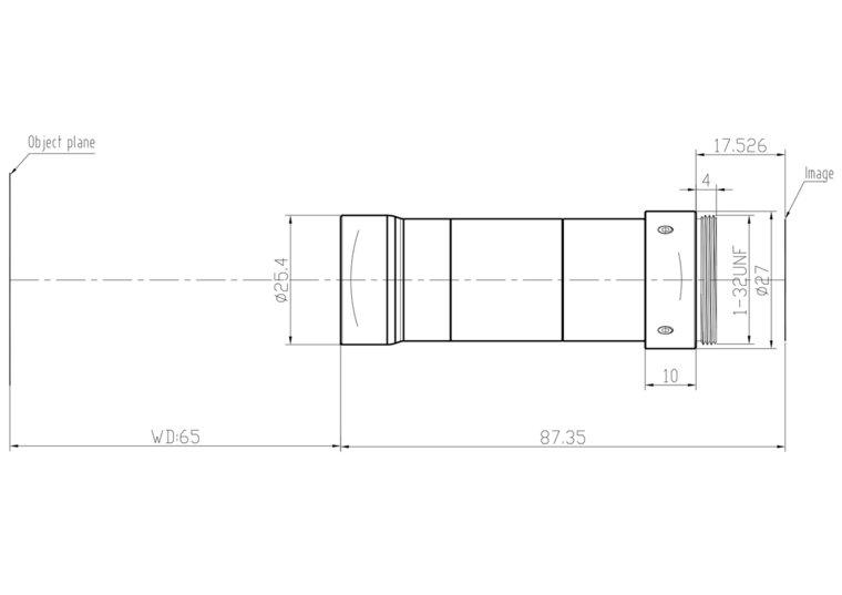 "LCM-TELECENTRIC-1.5X-WD65-1.5-NI, Bi-Telecentric C-mount lens, Magnification 1.5x, Sensorsize 2/3"""