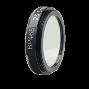 LFT-BP465-M25.5, Narrow bandpass filter,  465nM Peak wavelenght, useful range between 442-494nM