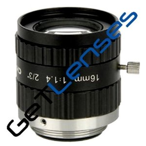 """LCM-5MP-16MM-F1.4-1.5-ND1, LENS C-mount 5MP 16MM F1.4 2/3"""" NON DISTORTION"""