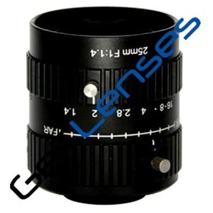 "LCM-10MP-25MM-F1.4-1-ND1, LENS C-mount 10MP 25MM F1.4 1"" NON DISTORTION"