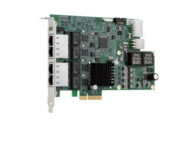 Adapter PCIe4x - 4x GigE PoE - quad bus