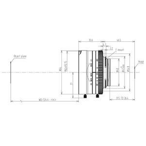 Mechanical Drawing LFM-29MP-50MM-F2.8-43-ND1