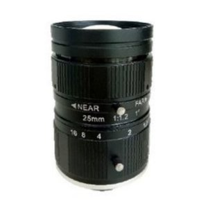 "LENS C-mount 10MP 25MM F1.2 for max sensorsize 1"" NON DISTORTION"